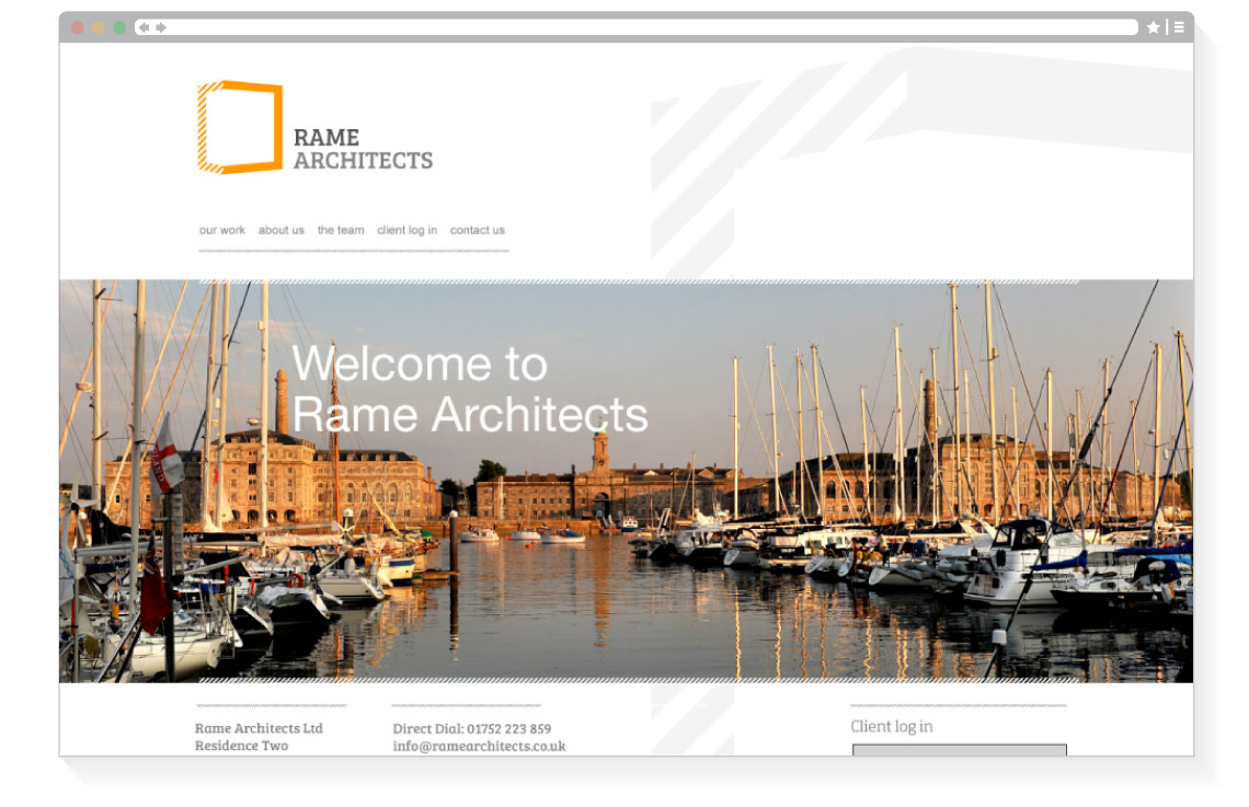Rame Architects home page