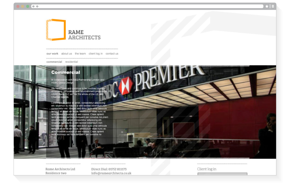 Rame Architects web page