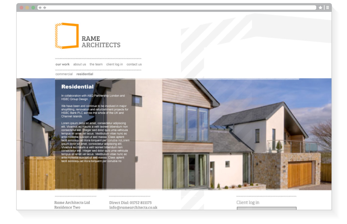 Rame Architects web page 2