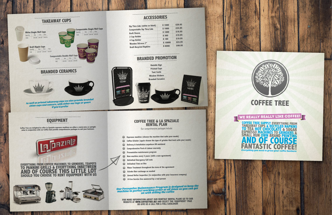Coffee Tree promotional materials