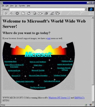First Microsfot web page