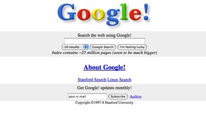 Google first web page