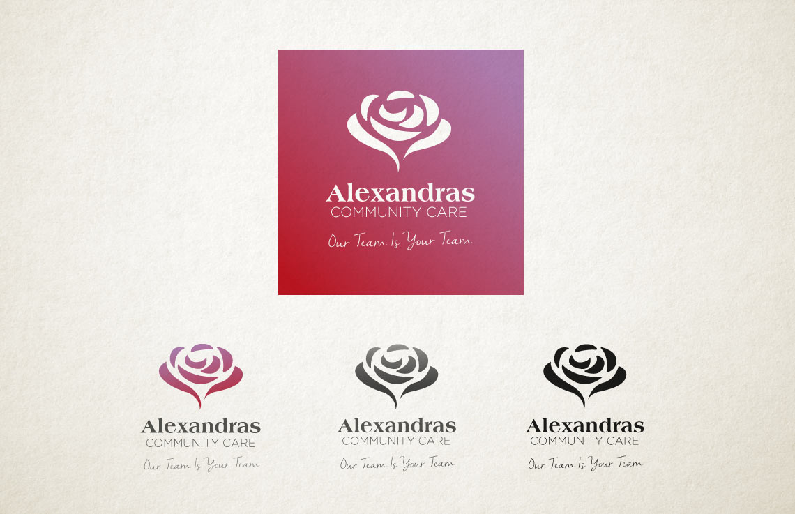 Alexandras & Westcountry Home Care logo options