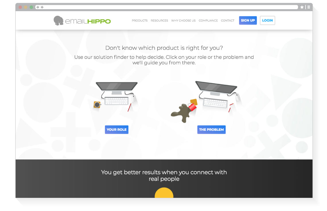 Email Hippo interactive explorer tool