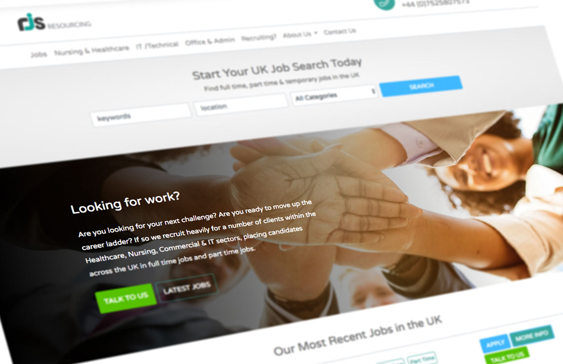 RJS Resourcing home page