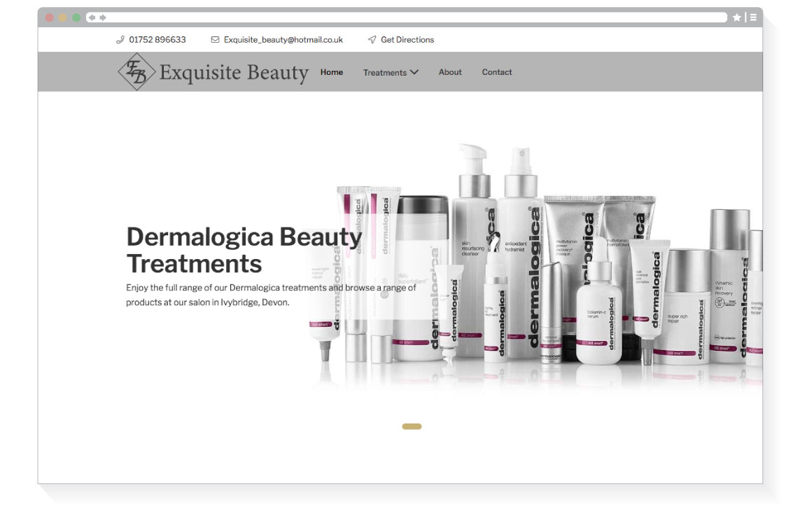 Exquisite Beauty home page